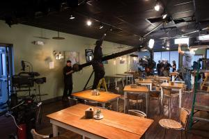 Kingswood Productions on location at Thistlestop Cafe in Nashville, Tenn.