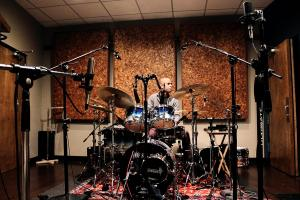 Drumkit in Studio B at Kingswood Productions.